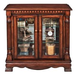 Gilby 2 Door Curio Cabinet with Pilasters