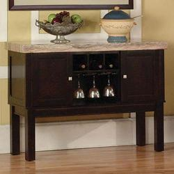 Fraser 2 Door Server with Wine Rack
