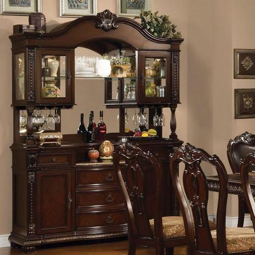 Acme furniture anondale traditional hutch buffet for Acme kitchen cabinets