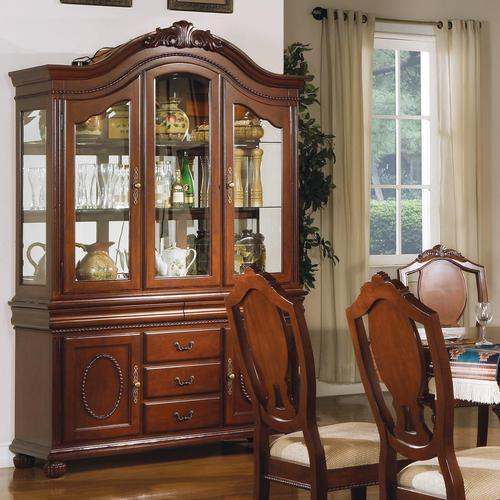 Acme furniture 11800 traditional buffet and hutch for Acme kitchen cabinets