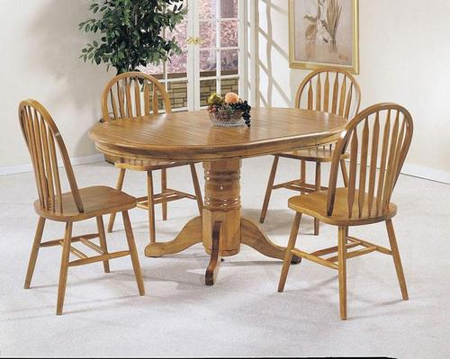 Acme furniture nostalgia 5 piece casual dining pedestal for Casual dining table and chairs