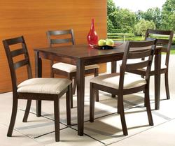 Tacoma Casual Five Piece Rectangular Table and Cushioned Side Chairs Set