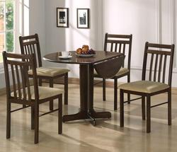Copenhagen Casual 5 Piece Dining Set with Drop Leaf Table