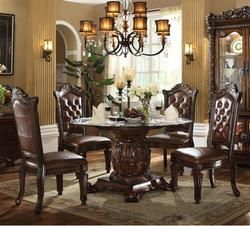 Vendome 5 Piece Single Pedestal Table and Chairs Set