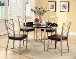 Misami Casual Contemporary 5-Piece Dining Table and Chair Set