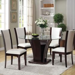 Malik 5-Piece Dining Round Table and Chair Set