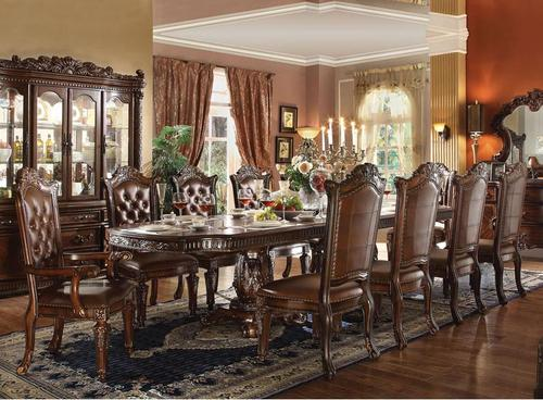 Acme Furniture Vendome 11 Piece Double Pedestal Table And
