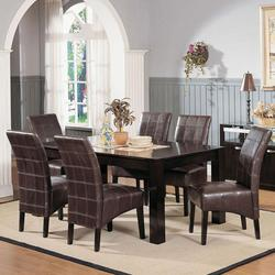 Roxana Contemporary 7-Piece Casual Dining Table and Chair Set