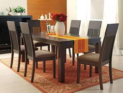 Medora Casual 7-Piece Mission-Style Dining Table and Chair Set