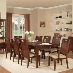 Donavan 9-Piece Transitional Formal Dining Table and Chair Set