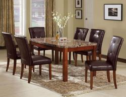 Bologna Seven Piece Arc Marble Table and Chairs Set