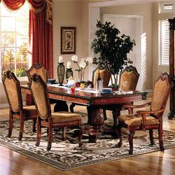Chateau De Ville 7 Piece Formal Dining Set with Fabric Upholstered Chairs