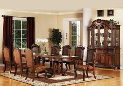 Remington Traditional 9-Piece Dining Table and Chair Set