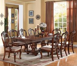 Nathaneal 9 Piece Dining Table Set with Dining Side and Arm Chairs