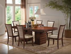 Pacifica Casual 7-Piece Transitional Dining Table and Chair Set