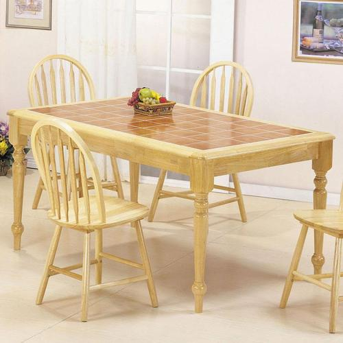 Acme Furniture Farmhouse Rectangular Leg Dining Table with ...