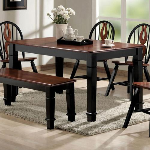 acme furniture chicago dining table with turned legs