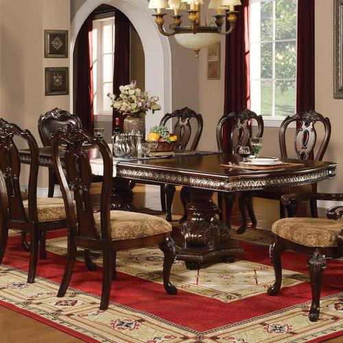 Acme furniture anondale traditional formal dining table for Traditional formal dining room