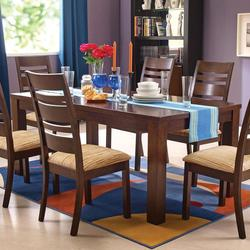 Everest Rectangular Dining Table with Block Legs