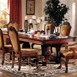 Chateau De Ville Rectangle Double Pedestal Dining Table With Leaves