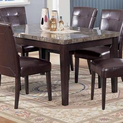 Canville Rectangular Dining Table with Marble Top