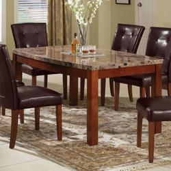 Bologna Arc Dining Table with Brown China Marble Top