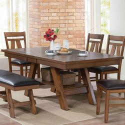Nevan Mission Dining Table with Butterfly Table Leaf