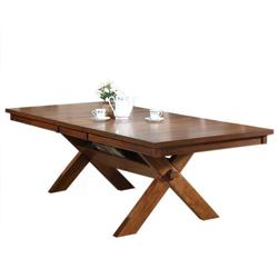 Apollo Distressed Oak Dining Table with Storage Trestle Base