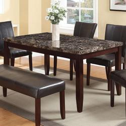 Idris Dining Table with Faux Marble Top