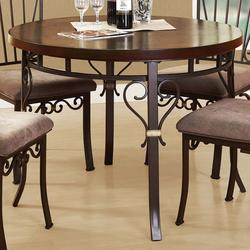 Barry Dining Table with Serpentine Metal Accents