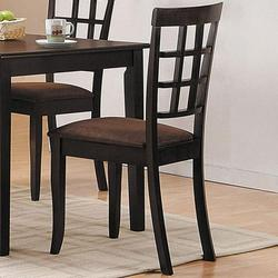 Cardiff Espresso Side Chair w/ Upholstered Seat