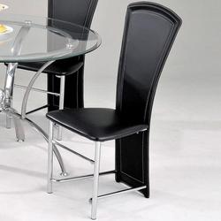 Manteca Contemporary Black Upholstered Dining Side Chair