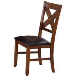 Apollo X-Back Dining Side Chair with PU Upholstered Seat