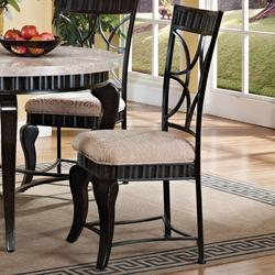 Lorencia Transitional Latticed-Backed Dining Side Chair with Cabriole Legs