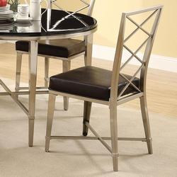 Misami Contemporary Chrome Dining Side Chair