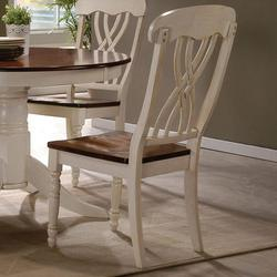 Dylan Cottage Lattice-back Side Chair in Buttermilk
