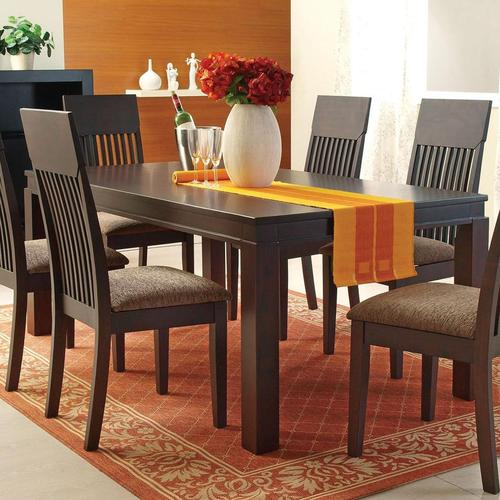Acme furniture medora espresso mission style casual dining for Casual kitchen dining