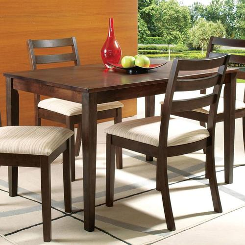 Acme furniture tacoma casual rectangular table with for Furniture upholstery tacoma