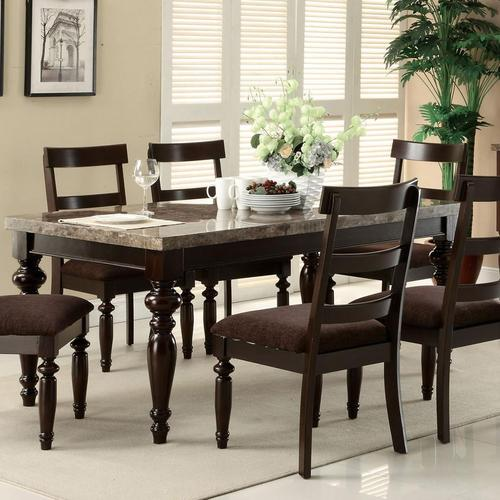 Acme furniture bandele casual dining table for Casual kitchen dining