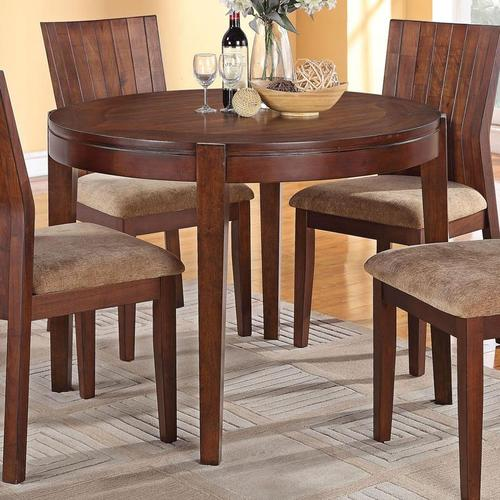 Acme furniture mauro round casual dining table for Casual kitchen dining