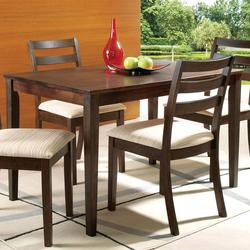 Tacoma Casual Rectangular Table with Tapered Block Legs