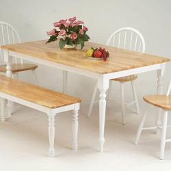 Farmhouse Rectangular Leg Dining Table