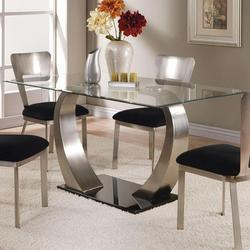Camille Dining Table w/ Glass Top