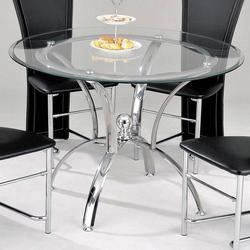 Manteca Contemporary Casual Dining Table W/ Glass Top