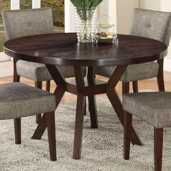 Drake Espresso Modern Dining Table with Round Top and Splayed Leg Base