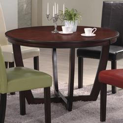 Hernan Contemporary Dining Table with Intersecting Wood Legs