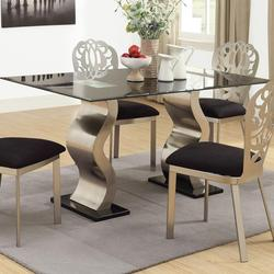 Misu Chrome Contemporary Dining Table