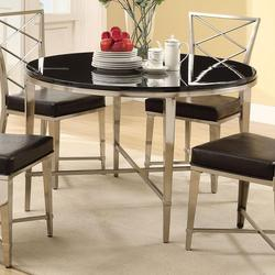Misami Casual Contemporary Chrome Dining Table