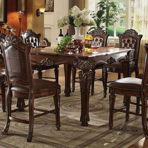 Acme Furniture Vendome Counter Height Dining Table With Carved Legs