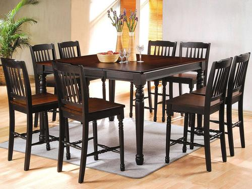 Merveilleux Carriage House 9 Piece Counter Height Dining Set With Two Tone Finish